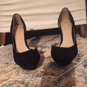 Zara black suede pumps